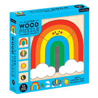 Rainbow 4-Layer Wood Puzzle