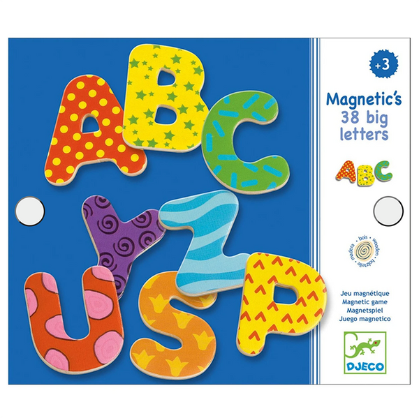 Big Letter Wooden Magnets