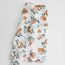 Load image into Gallery viewer, Slow Living Sloth Swaddle