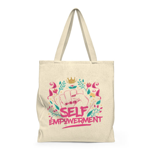 SELF-EMPOWERMENT Shoulder Tote Bag - Roomy