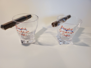 Memphis Grindhouse Whiskey Cigar Glass Set (PLEASE CLICK FULL DETAILS FOR MORE PICS) - Memphis Grindhouse