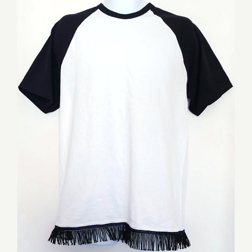 Two Tone Men's Fringed T-Shirt