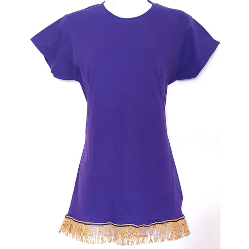 Women's Plain Fringed T-Shirt
