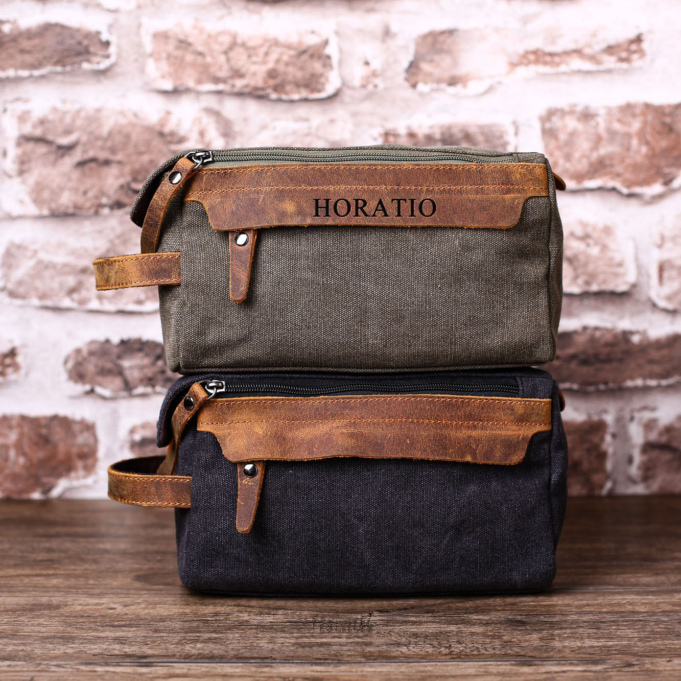 Personalized Mens Toiletry Bag Naturalleathershop