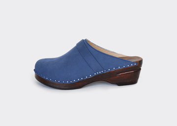 vegan swedish clogs DA VINCI|INDIGO
