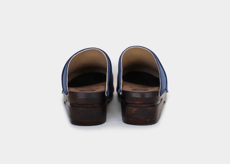 PRE-ORDER - Vegan swedish clogs DA VINCI|INDIGO