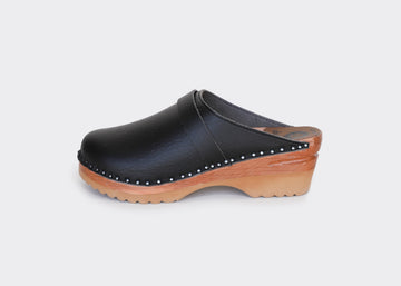 vegan swedish clogs DA VINCI|BLACK