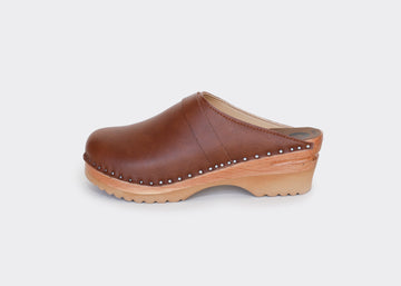 vegan swedish clogs DA VINCI|BROWN