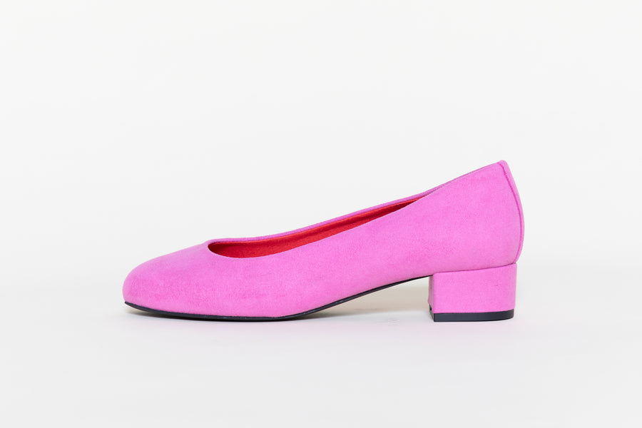 BETTY FUSCHIA, vegan Ballerinas, Vegan suede
