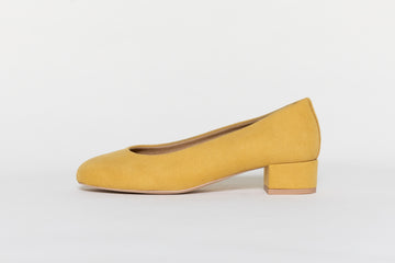 BETTY YELLOW MUSTARD Ballerinas, Vegan suede