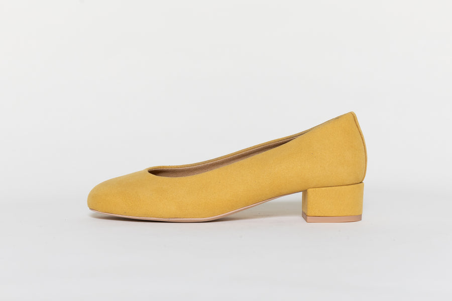 vegan ballerina BETTY|Mustard