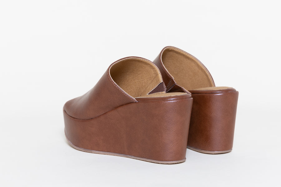 CORY BROWN platform shoes, Vegan Leather