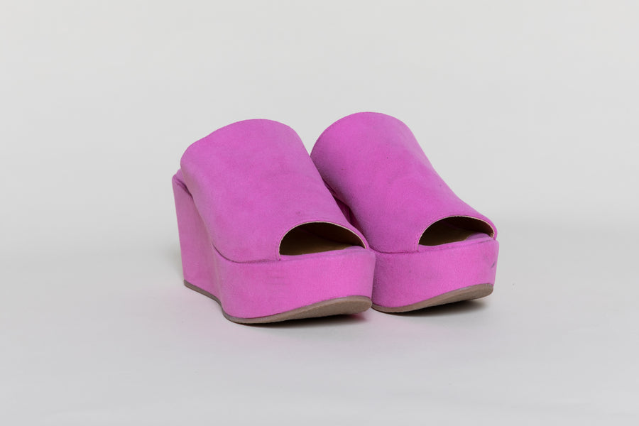 CORY FUSCHIA platform shoes, Vegan Suede