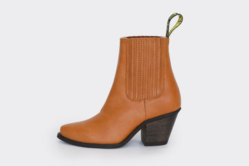 DAISY HONEY, High heel vegan leather Cowboy Boots