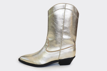 DAKOTA High Top Gold Vegan western boots