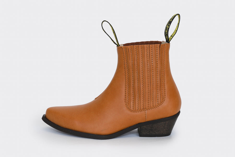 DUKE Honey vegan leather cowboy boots