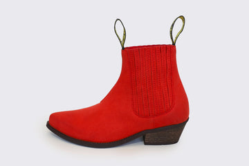 DUKE red vegan cowboy boots