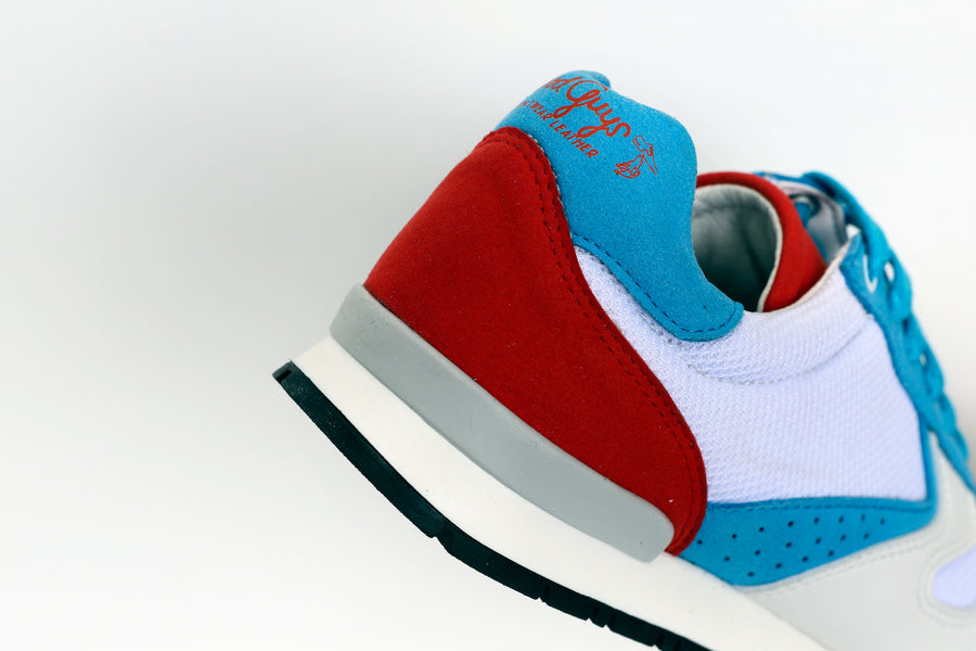 FELIX VEGAN RUNNING SHOES WHITE/RED/BLUE