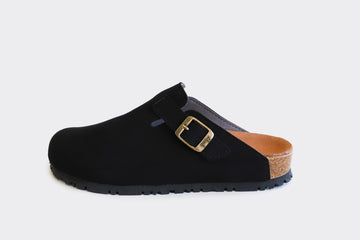 GENA Black Comfy Vegan Slide-On