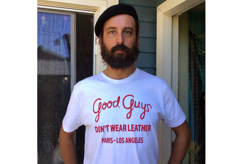 Good Guys T-shirt -Unisex (red on White 6 recycled water bottles in each T-shirt)