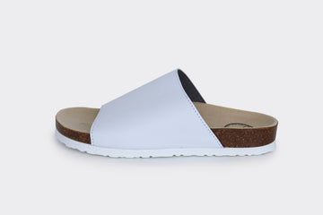 JENNY vegan slide-on |White APPLESKIN™