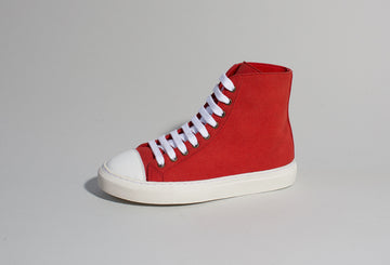 KAMO RED/WHITE, vegan high top sneakers