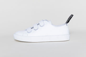 KEITH VEGAN VELCRO LOW TOP SNEAKERS | IWHITE Veg Leather