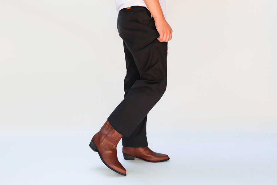 LUCKY brown vegan western boots