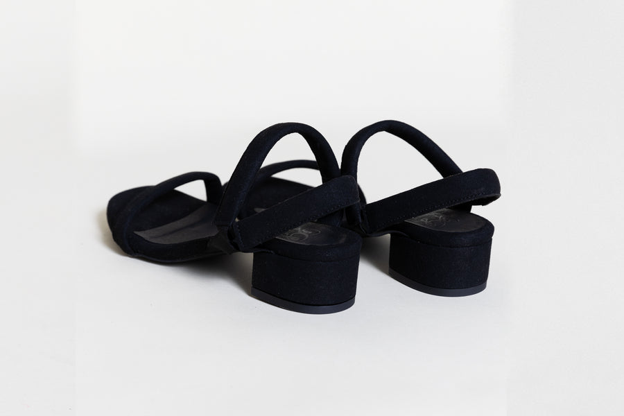MARY BLACK Sandals, Vegan suede