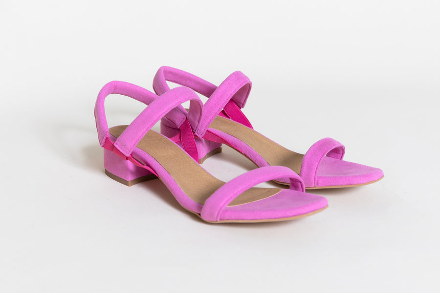 MARY FUSCHIA vegan Sandals, Vegan suede
