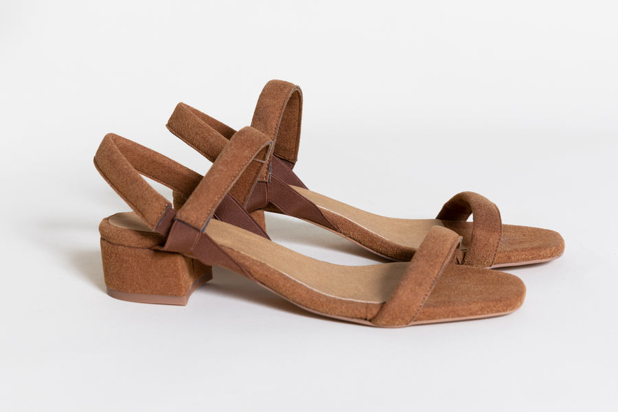 MARY RUSTY BROWN vegan Sandals, Vegan suede