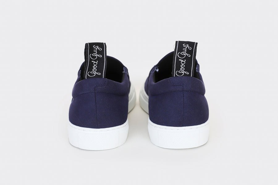 MORRIS VEGAN SLIP-ON SNEAKERS | MARINE Veg Suede