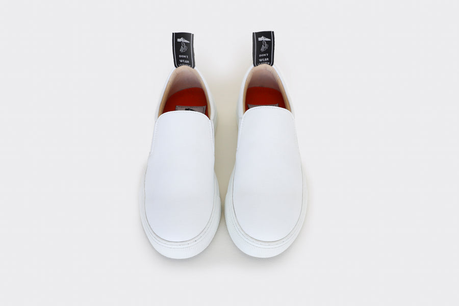 vegan slip-on sneakers| MORRIS White