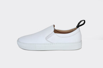 MORRIS VEGAN SLIP-ON SNEAKERS | WHITE Veg Leather