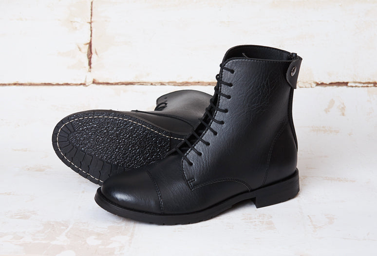 NORIDER BLACK, vegan riding boots, Vegan leather