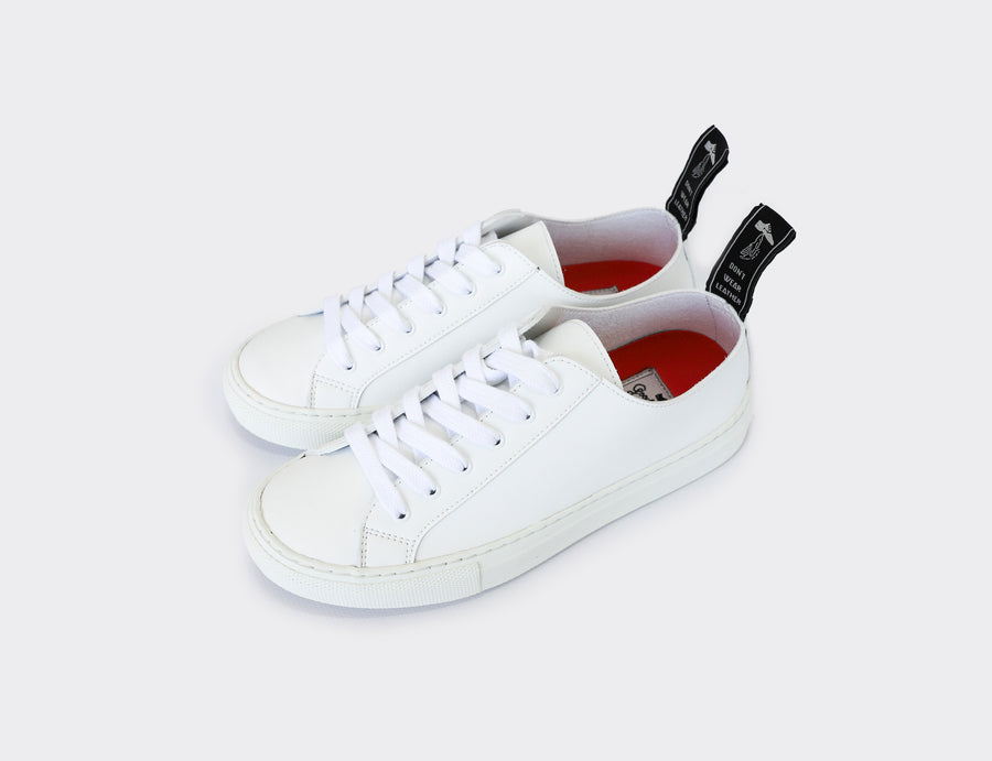 SAMO VEGAN LOW TOP SNEAKERS | WHITE Veg Leather