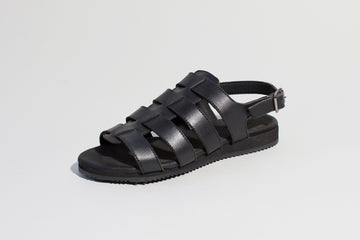 SPART BLACK spartiate sandals- Vegan leather