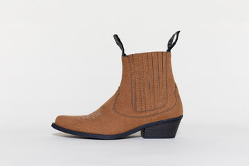 TAMMY RUSTY BROWN, Cowboy Boots, Vegan Suede