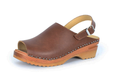 EVA vegan swedish clogs | BROWN vegan leather