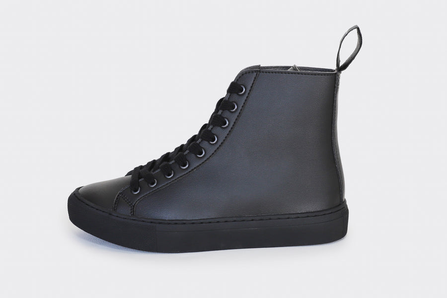 WACK BLACK, vegan high top sneakers, Vegan leather