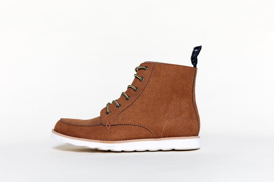 WALTER RUSTY BROWN, Working Boots, Vegan Suede