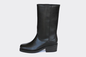 WILLIE BLACK, high top motorcycle boots, Vegan Leather