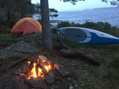 Camping on one of the most beautiful islands on the border of Norway and Sweden.