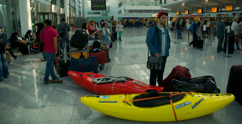 traveling with kayaks sucks - pic: Jonas Grünewald -