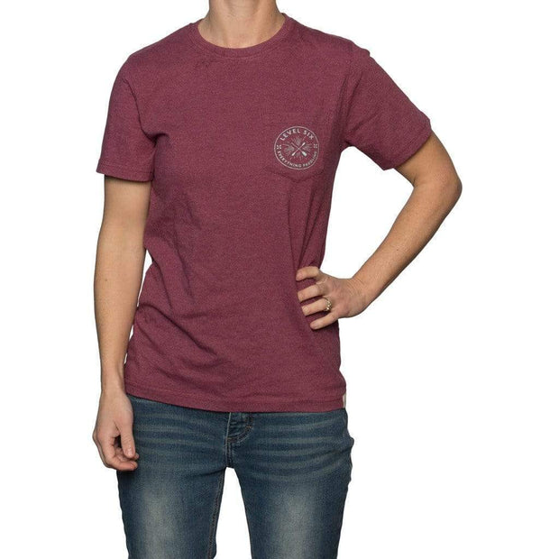 2017 Circle Logo Women's T-Shirt Neoprene BEET RED / XS Outlet