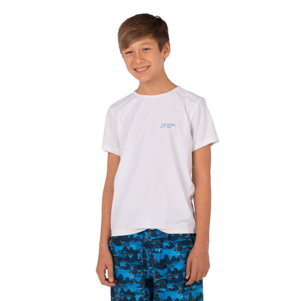 Boy's Bodhi Short Sleeve Sun Guard Kid's Casual WHITE / 10 Level Six