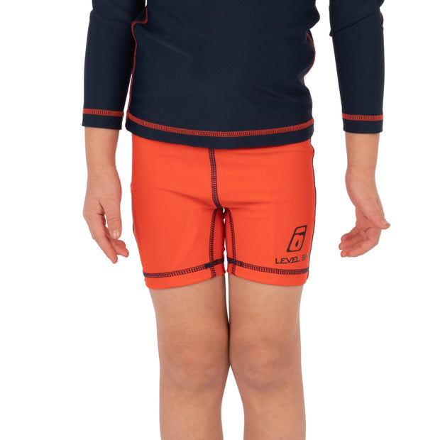 Boy's Oliver Lycra Shorts Kid's Casual 1T / ORANGE RED Level Six