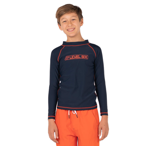 Boy's Slater Long Sleeve Sunguard Kid's Casual 6 / Deep Navy Level Six