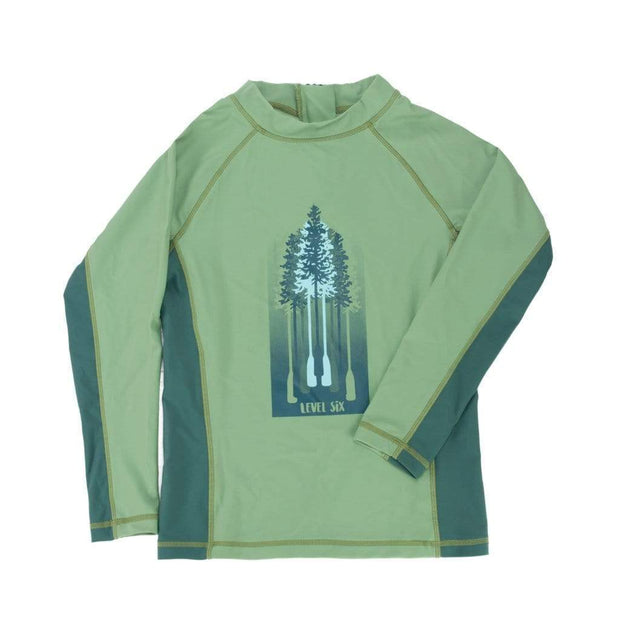 Boy's Slater Long Sleeve Sunguard Kid's Casual FERN GREEN / 6 Outlet