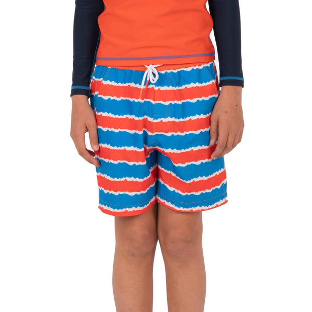 Boy's Snicker Boardshorts Kid's Casual TIE DYE STRIPES / 8 Level Six